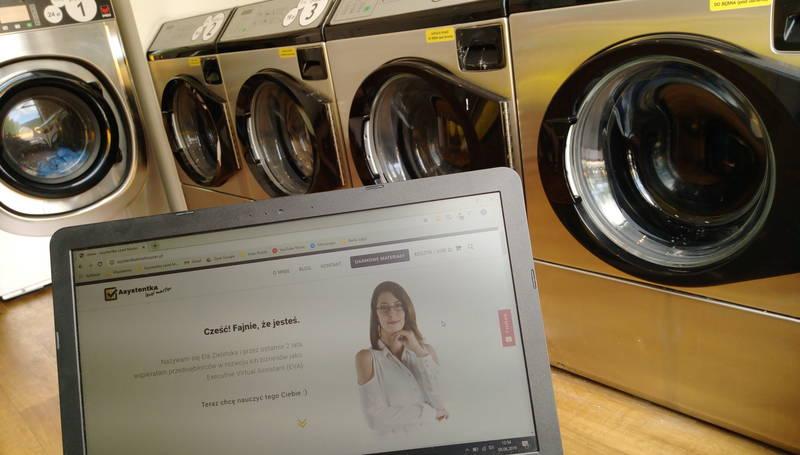 wirtualna asystentka na wakacjach - pralnia