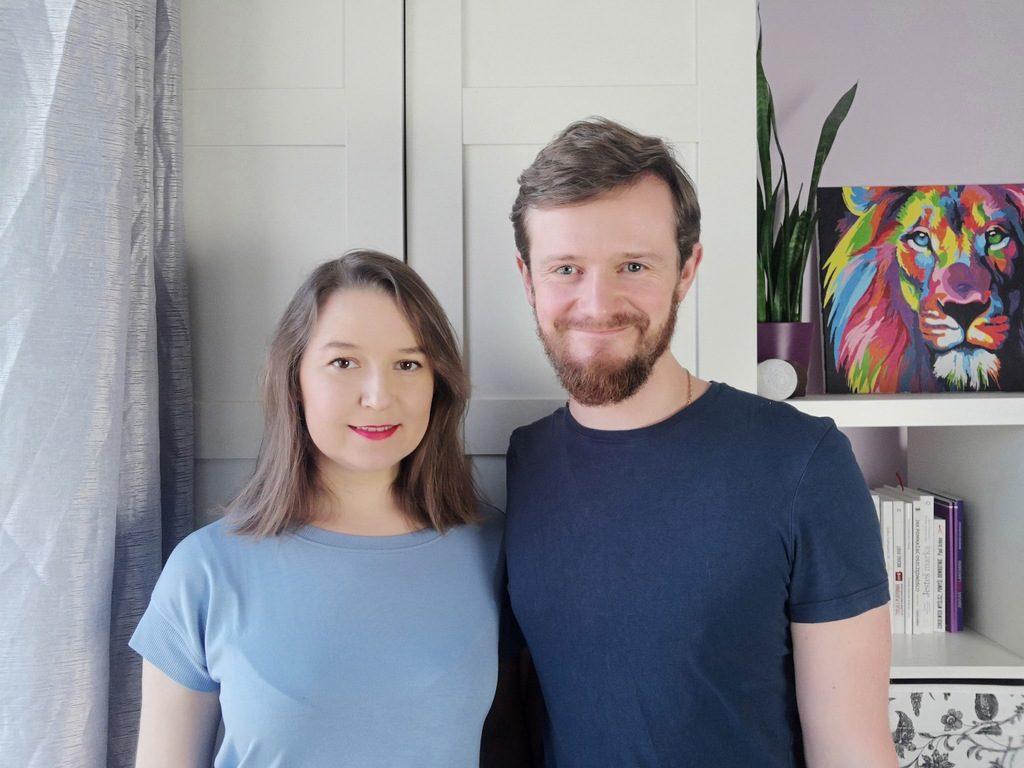 Agnieszka z mężem