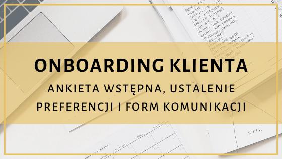 Onboarding klienta