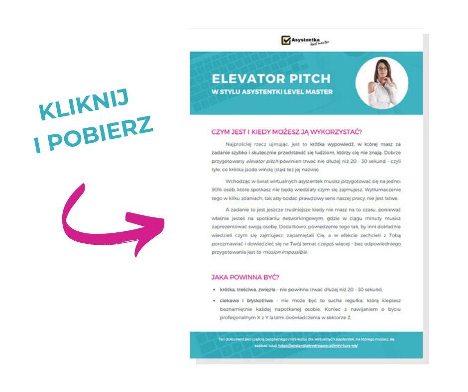 elevator pitch pobierz pdf